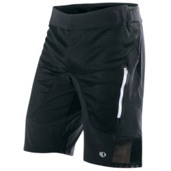Pearl Izumi Veer Mountain Bike Shorts - Removable Liner Shorts (For Men) in White Solid