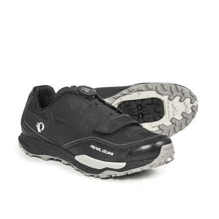 Pearl Izumi X-Alp Launch II Mountain Bike Shoes - SPD (For Men) in Black/Shadow Grey - Closeouts