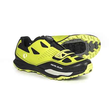 Pearl Izumi X-Alp Launch II Mountain Bike Shoes - SPD (For Men) in Lime Punch/Black - Closeouts