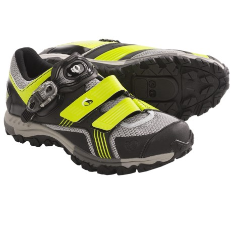 Pearl Izumi X-Alp Launch Mountain Bike Shoes - SPD (For Men) in Lime/Black