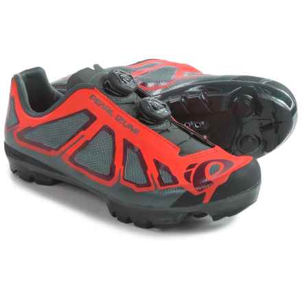 Pearl Izumi X-Project 1.0 Mountain Bike Shoes - SPD (For Men) in Mandarin Red/Black - Closeouts