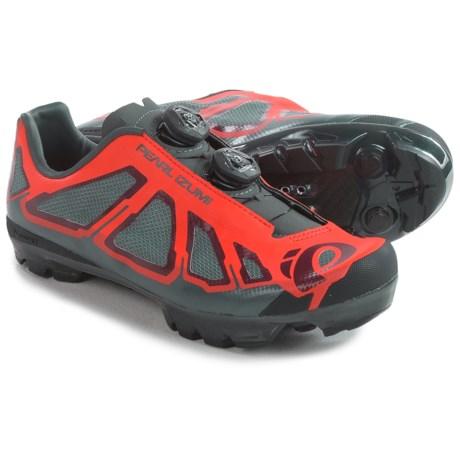 Pearl Izumi X-Project 1.0 Mountain Bike Shoes - SPD (For Men) in Mandarin Red/Black