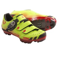 Pearl Izumi X-Project 2.0 Mountain Bike Shoes - SPD (For Men) in Lime/True Red - Closeouts