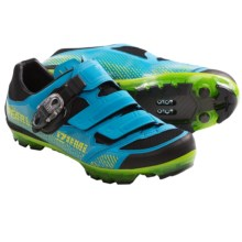 Pearl Izumi X-Project 3.0 Cycling Shoes - SPD (For Men) in Electric Blue/Lime - Closeouts