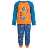 Peas & Carrots Glow-in-the-Dark Space Shirt and Pants Pajamas - Long Sleeve (For Toddlers)