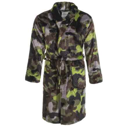Peas & Carrots Komar Kids Camo Robe - Long Sleeve (For Kids) in Green - Closeouts