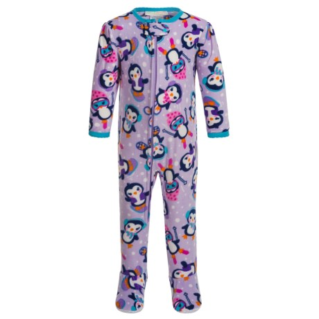 Peas & Carrots Snow Penguin Blanket One-Piece Pajamas - Long Sleeve (For Toddlers) in Amethyst