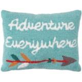 """Peking Handicraft, Inc. Adventure Everywhere Hook Pillow - 14x18"""""""