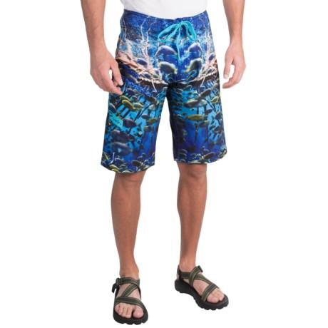 Pelagic Men's 4 Tek Fish Fishing Board Shorts Color ...