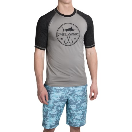 Pelagic Hydroluxe T Shirt UPF 50+, Short Sleeve (For Men)