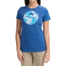 Pelagic Ohana T-Shirt - Short Sleeve (For Women) in Heather Blue - Closeouts