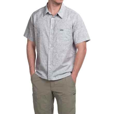 Pelagic Tortuga Shirt - Short Sleeve (For Men) in Grey - Closeouts