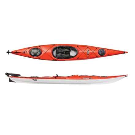 PELICAN Chase 140X Kayak with Paddle - 14', 1-Person in Tangerine/White/White