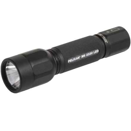 Pelican Products 2330 M6 LED Aluminum Flashlight - 100 Lumens in Matte Black - Closeouts