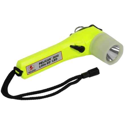 Pelican Products Photo Luminescent 3610 Little Ed LED Flashlight in Clear/Yellow - Closeouts