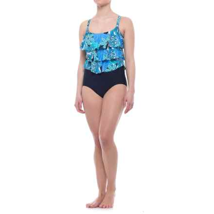 Penbrooke Sheel A-Go-Go One-Piece Swimsuit (For Women) in Blue - Closeouts
