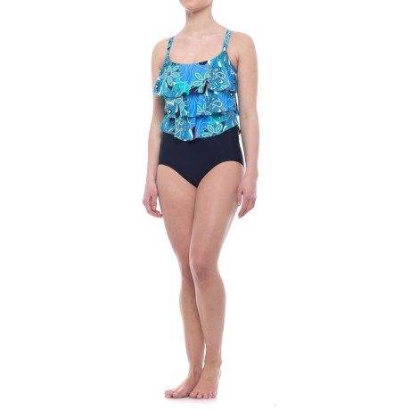 Penbrooke Sheel A-Go-Go One-Piece Swimsuit (For Women) in Blue