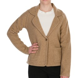 Pendleton Aidan Cardigan Sweater - Boiled Lambswool (For Women) in Camel