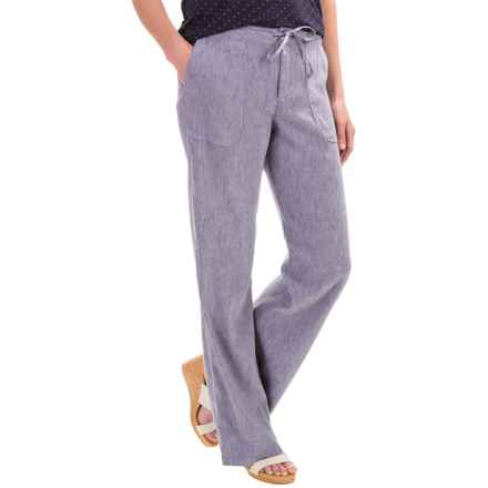 Pendleton Aimee Drawstring Pants - Linen Blend (For Women) in Blue Chambray - Closeouts