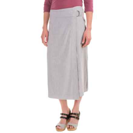 Pendleton Aimee Wrap Skirt - Linen-Rayon (For Women) in Light Grey Chambray - Closeouts