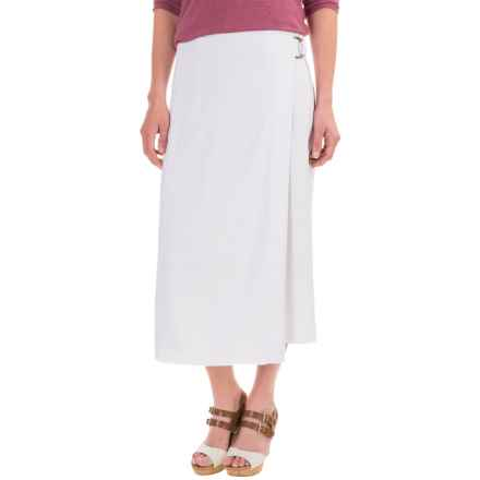 Pendleton Aimee Wrap Skirt - Linen-Rayon (For Women) in White Chambray - Closeouts