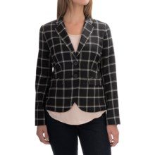 Pendleton Alameda Wool Jacket - Slim Fit (For Women) in Black/Ivory Windowpane - Overstock