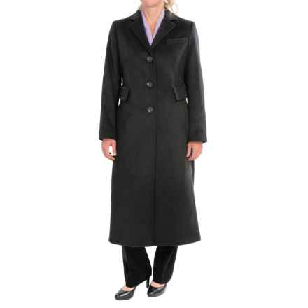 Pendleton Alexis Lambswool Long Coat (For Women) in Charcoal Mix - Closeouts