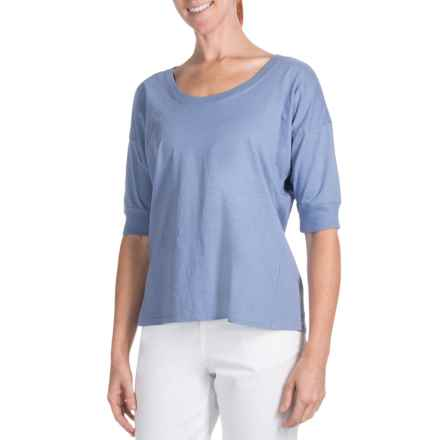 Pendleton Ally T-Shirt - Elbow Sleeve (For Women) in Blossom Blue - Closeouts