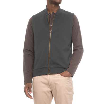Pendleton Alsea Vest - Fleece Lined (For Men) in Dark Grey/Green - Closeouts