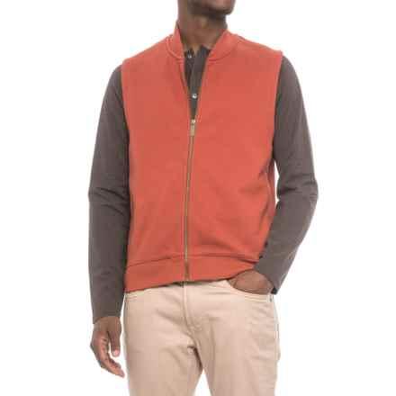 Pendleton Alsea Vest - Fleece Lined (For Men) in Rust/Grey - Closeouts