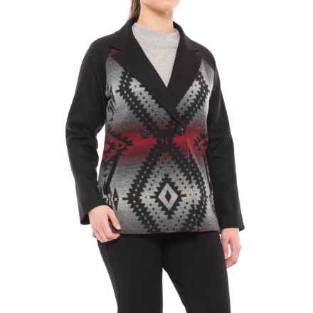 Pendleton Alta Wool Coat (For Women) in Black Ice Jacquard - Closeouts