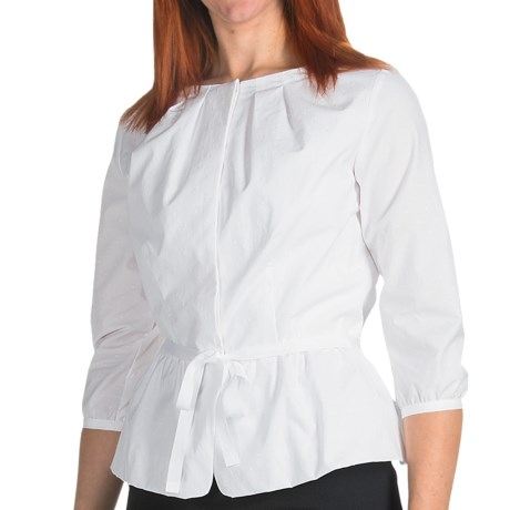 Pendleton Anatasia Peplum Shirt - 3/4 Sleeve (For Women) in White