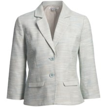 Pendleton Angela Cotton-Linen Jacket - 3/4 Sleeve (For Women) in Poolside - Closeouts
