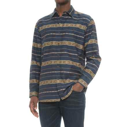 Pendleton Archive Kyler Shirt - Long Sleeve (For Men) in Blue Jacquard - Closeouts