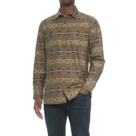 Pendleton Archive Kyler Shirt - Long Sleeve (For Men) in Brown Jacquard - Closeouts