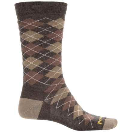 Pendleton Argyle Socks - Merino Wool, Crew (For Men and Women) in Brown - Closeouts