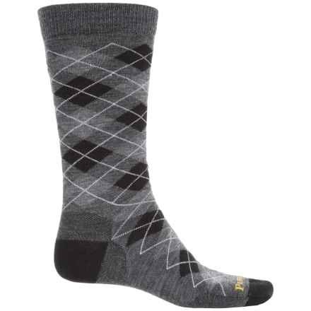 Pendleton Argyle Socks - Merino Wool, Crew (For Men and Women) in Charcoal - Closeouts