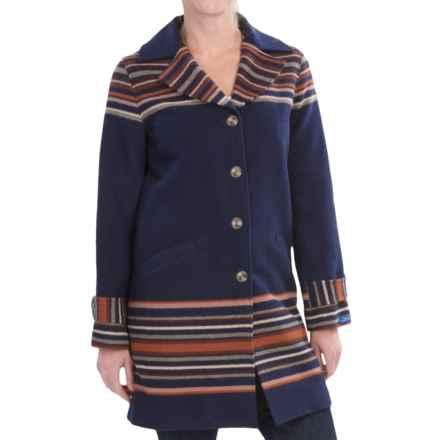 Pendleton Arroyo Virgin Wool Coat (For Women) in Sunset Stripe Jacquard - Closeouts