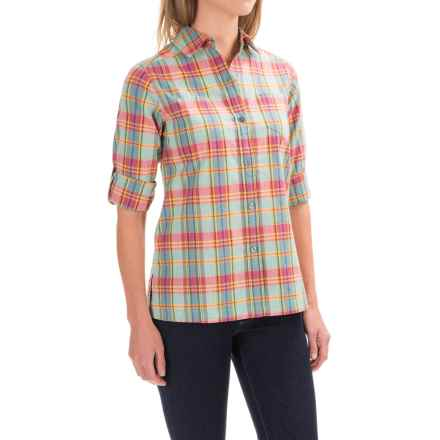 Pendleton Astoria Plaid Shirt - Long Sleeve (For Women) in Aqua Multi Plaid - Closeouts