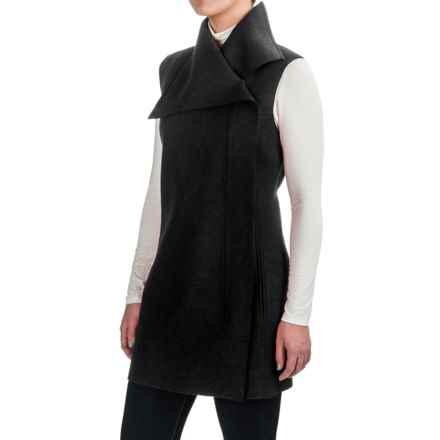 Pendleton Asymmetrical Front-Zip Tunic Vest - Merino Wool (For Women) in Black - Closeouts