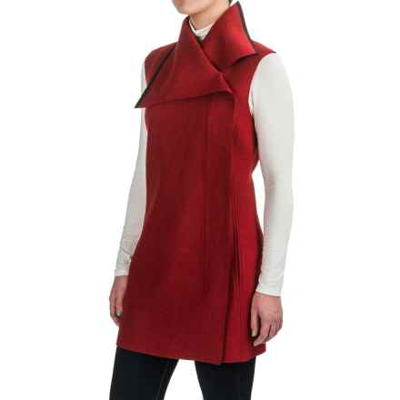 Pendleton Asymmetrical Front-Zip Tunic Vest - Merino Wool (For Women) in Red - Closeouts