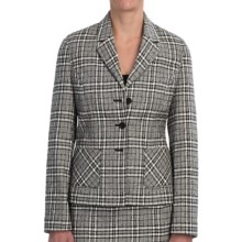 Pendleton At Ease Jacket - Textured Plaid (For Women) in Black/Ivory - Closeouts