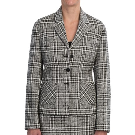 Pendleton At Ease Jacket - Textured Plaid (For Women) in Black/Ivory