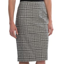 Pendleton At Ease Pencil Skirt - Textured Plaid (For Women) in Black/Ivory - Closeouts