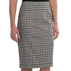 Pendleton At Ease Pencil Skirt - Textured Plaid (For Women) in Black/Ivory