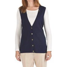 Pendleton Avalon Long Silk Blend Vest (For Women) in Navy - Closeouts