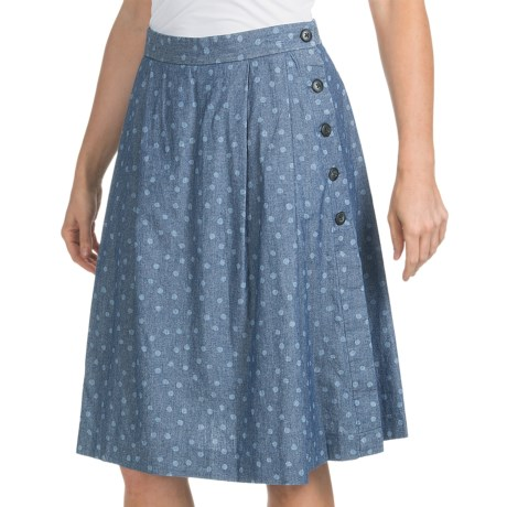 Pendleton Back Porch Skirt - Cotton Chambray (For Women) in Blue Chambray
