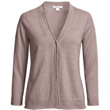 Pendleton Balmy Days Cardigan Sweater - Linen-Cotton, 3/4 Sleeve (For Women) in Summer Sand - Closeouts