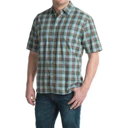 Pendleton Barlow Outdoor Shirt - Short Sleeve (For Men) in Blue Plaid - Closeouts