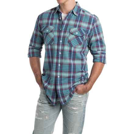 Pendleton Beach Shack Shirt - Long Sleeve (For Men) in Aqua/Pink Ombre - Closeouts